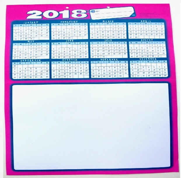 Calendar 2018 – Cover and Single Page